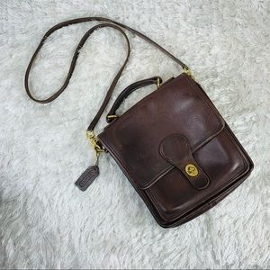Coach Vintage 90's Wills Station Brown Leather